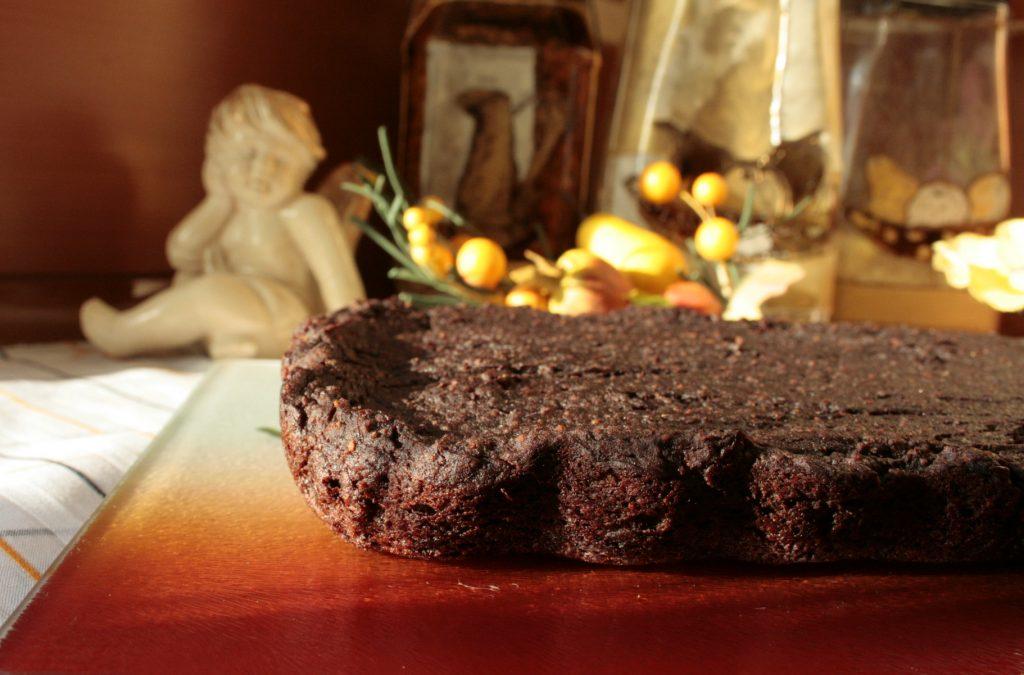 Wegańskie brownie z awokado, bez polewy.