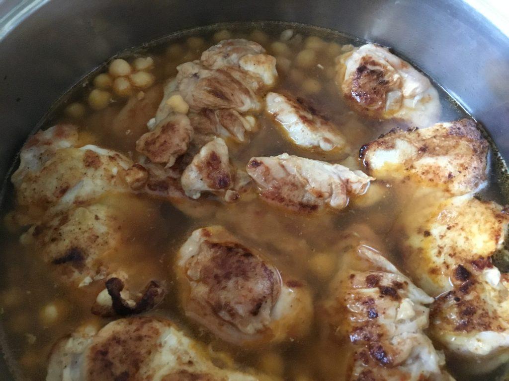 Duszący się kurczak