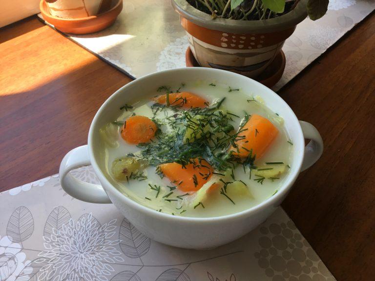 Zupa z Młodych Warzyw (Low FODMAP)
