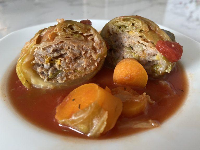 Gołąbki wołowe z warzywami (low FODMAP)