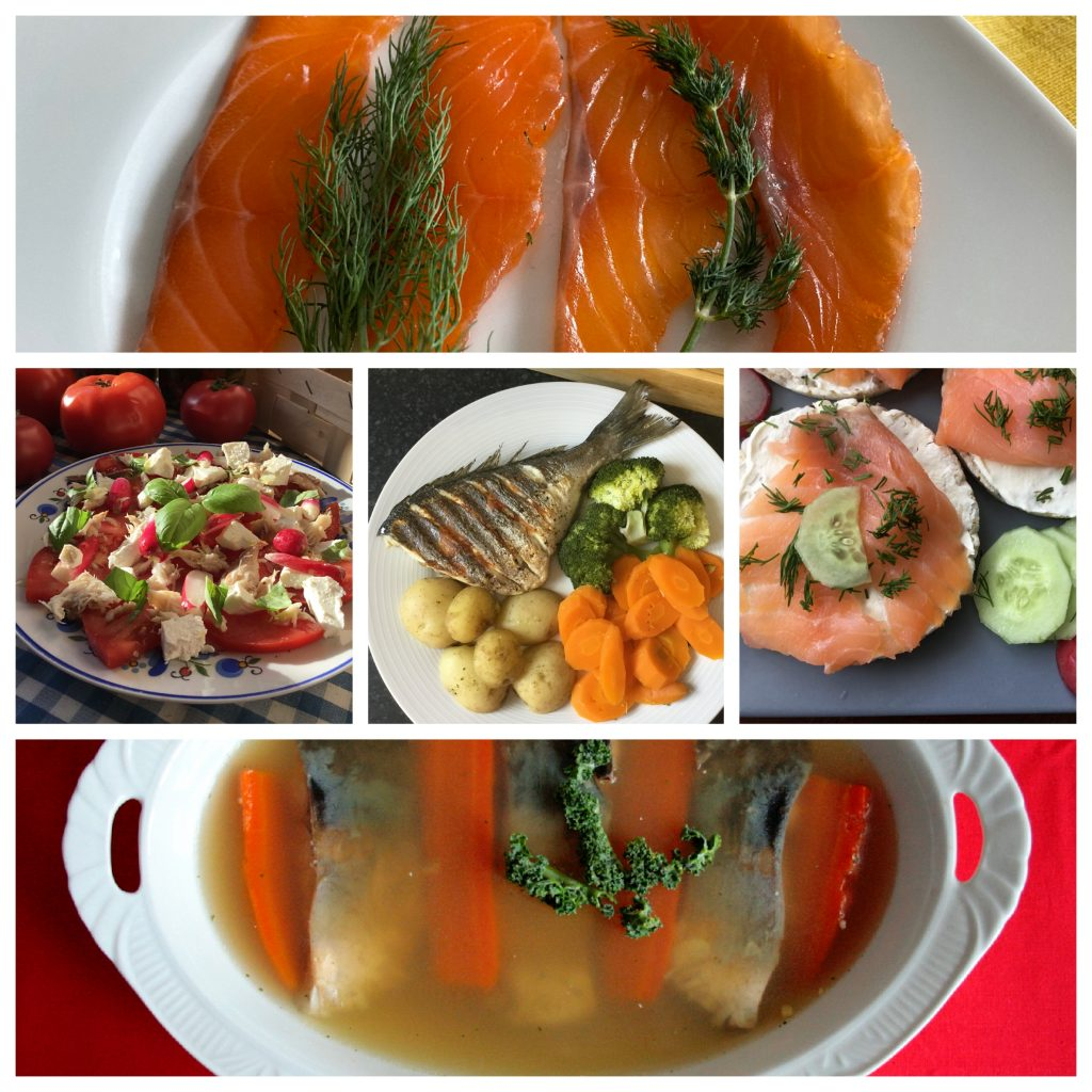 Collage - Potrawy z ryb