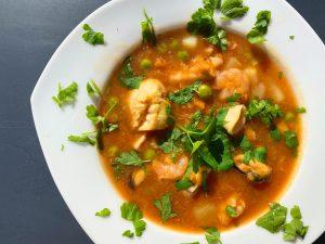 Zupa Rybna z Owocami Morza (Low FODMAP)