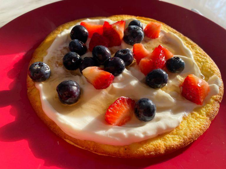 Słodki Omlet z Borówkami (Low FODMAP)