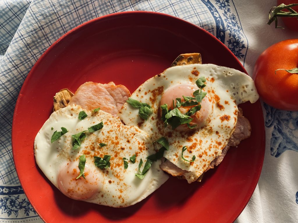 Tost z Batata z Jajkiem